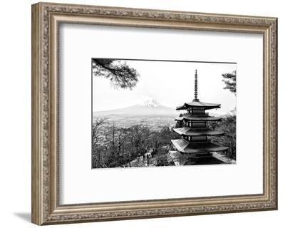 Black Japan Collection - Chureito Pagoda-Philippe Hugonnard-Framed Photographic Print