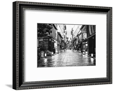 Black Japan Collection - End of the day in Kyoto-Philippe Hugonnard-Framed Photographic Print