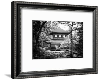 Black Japan Collection - Ginkakuji Temple Kyoto-Philippe Hugonnard-Framed Photographic Print