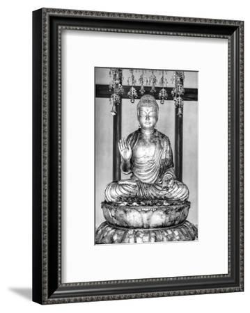 Black Japan Collection - Golden Buddha-Philippe Hugonnard-Framed Photographic Print