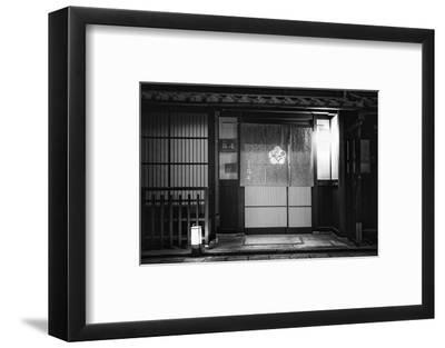 Black Japan Collection - Japanese Restaurant Facade II-Philippe Hugonnard-Framed Photographic Print