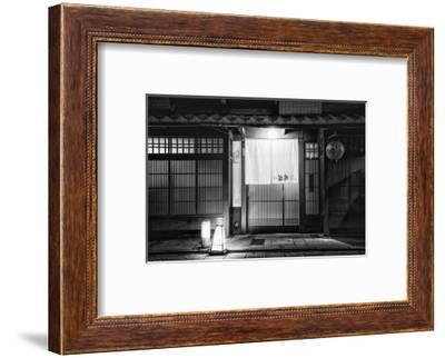 Black Japan Collection - Japanese Restaurant Facade III-Philippe Hugonnard-Framed Photographic Print