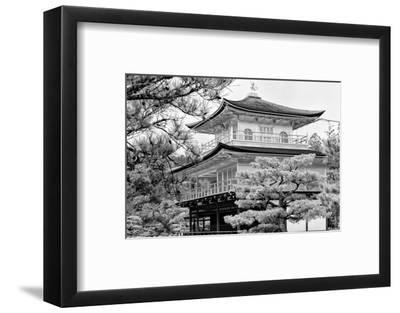 Black Japan Collection - Kinkaku-Ji Temple-Philippe Hugonnard-Framed Photographic Print