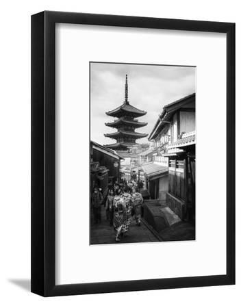 Black Japan Collection - Kyoto Sanneizaka Street-Philippe Hugonnard-Framed Photographic Print