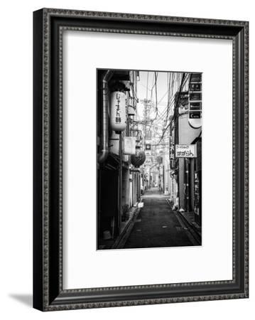 Black Japan Collection - Kyoto Street Scene II-Philippe Hugonnard-Framed Photographic Print