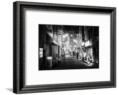 Black Japan Collection - Night Street Scene I-Philippe Hugonnard-Framed Photographic Print