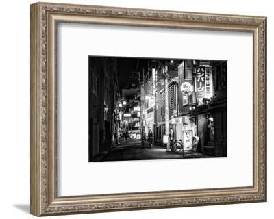 Black Japan Collection - Night Street Scene-Philippe Hugonnard-Framed Photographic Print