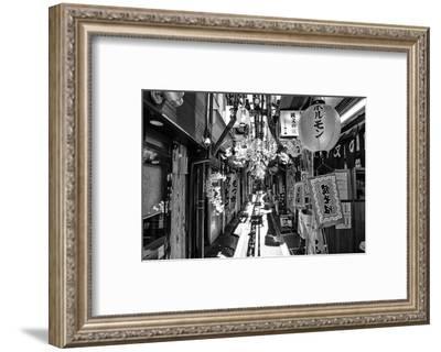 Black Japan Collection - Omoide Yokocho Tokyo-Philippe Hugonnard-Framed Photographic Print
