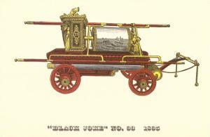 Black Joke Vintage Fire Wagon
