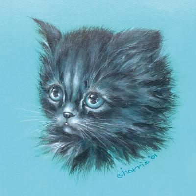 Black Kitten - 23A-Peggy Harris-Giclee Print