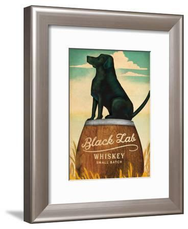 Black Lab Whiskey-Wild Apple Portfolio-Framed Art Print