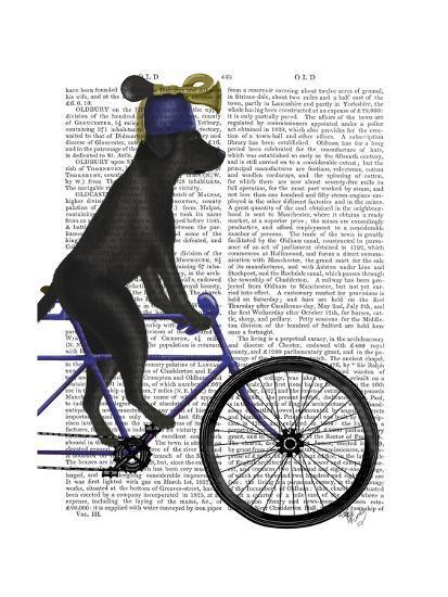 Black Labrador on Bicycle-Fab Funky-Art Print