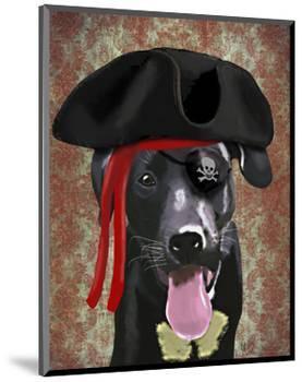 Black Labrador Pirate Dog-Fab Funky-Mounted Art Print