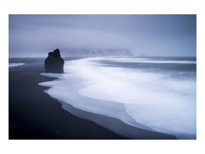 Black Lava Beach at Cape Dyrholaey near Vik i Myrdal, Myrdalur, Iceland--Art Print