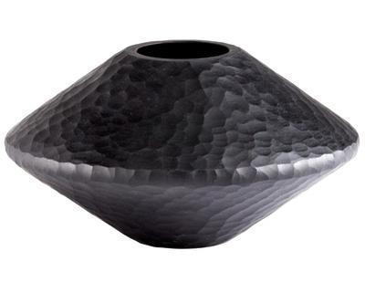 Black Lava Vase - Round