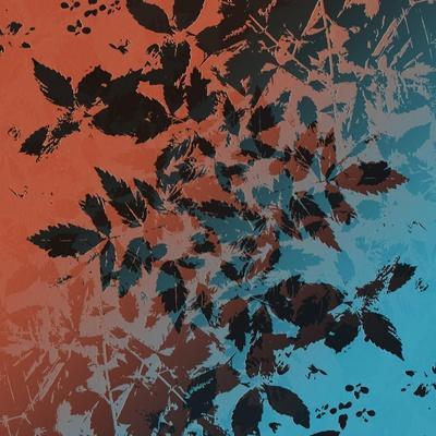 Black Leaves-Ruth Palmer-Art Print