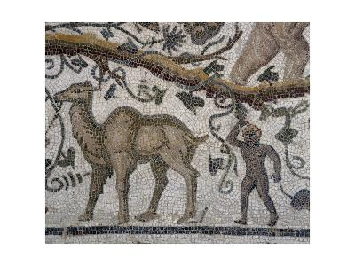 Black Man and Camel, Detail from So-Called Mosaic of Silenus of Thysdrus--Giclee Print
