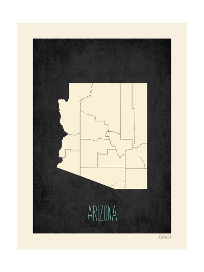 Black Map Arizona-Kindred Sol Collective-Art Print