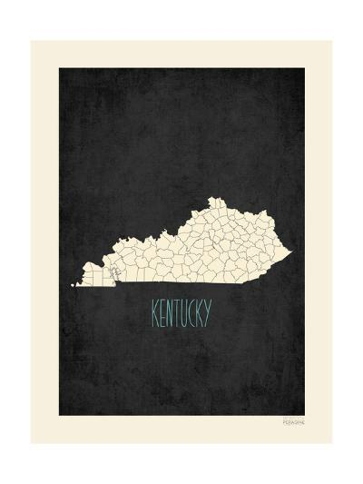 Black Map Kentucky-Kindred Sol Collective-Art Print