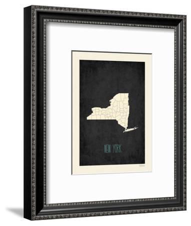 Black Map New York-Kindred Sol Collective-Framed Art Print