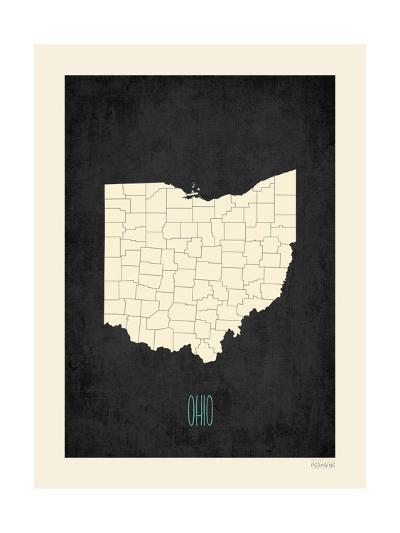 Black Map Ohio-Kindred Sol Collective-Art Print