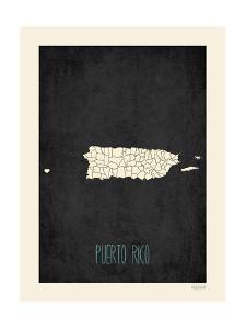 Black Map Puerto Rico