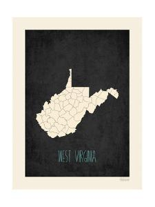 Black Map West Virginia