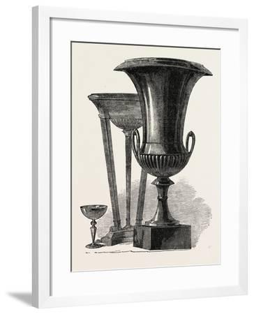 Black Marble Vase and Tripod--Framed Giclee Print