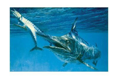 Black Marlin and Two Wahoo-Stanley Meltzoff-Giclee Print