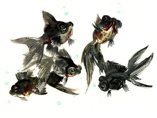 Black Moor Feng Shui-Suren Nersisyan-Art Print