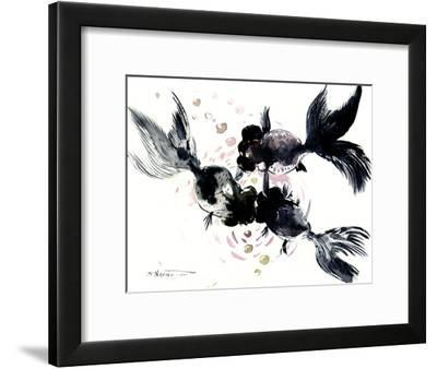 Black Moor Fish 1-Suren Nersisyan-Framed Art Print