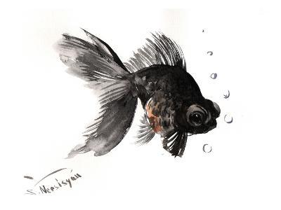 Black Moor, Goldfish-Suren Nersisyan-Art Print