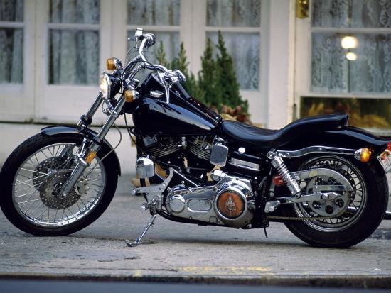 Black Motorcycle--Photographic Print