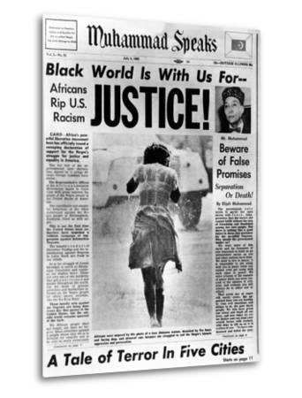 Black Muslim Newspaper, 'Muhammad Speaks', Emphasizes African Americans Abuse, Jul 5, 1963