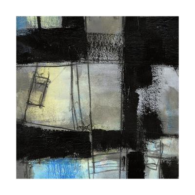 Black on Blue IV-Jennifer Goldberger-Art Print