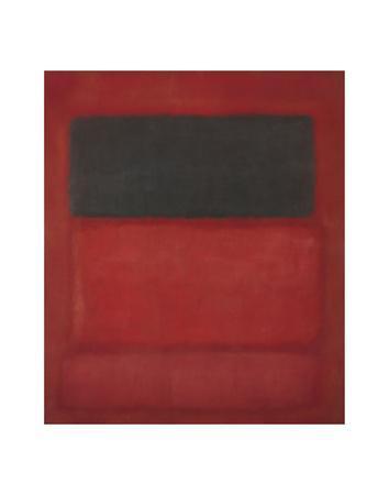 Black over Reds [Black on Red], 1957-Mark Rothko-Art Print