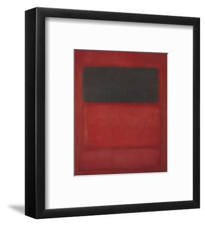 Black over Reds [Black on Red], 1957-Mark Rothko-Framed Art Print