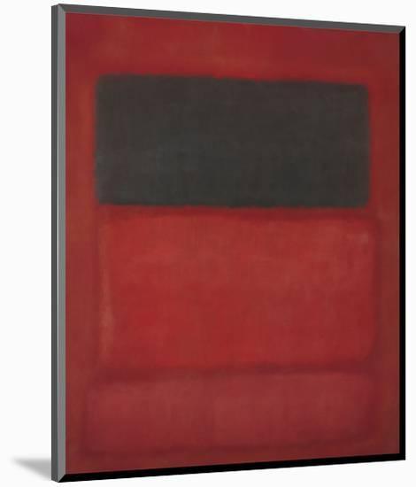 Black over Reds [Black on Red], 1957-Mark Rothko-Mounted Art Print