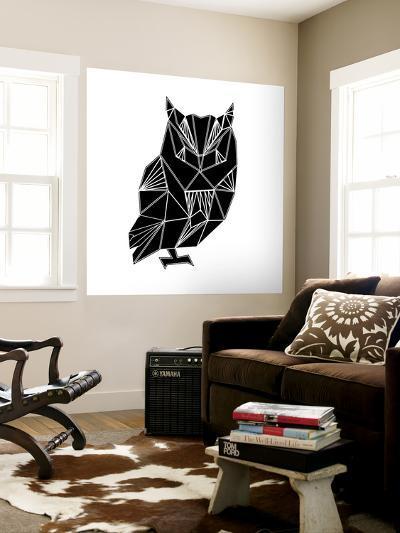 Black Owl Polygon-Lisa Kroll-Wall Mural