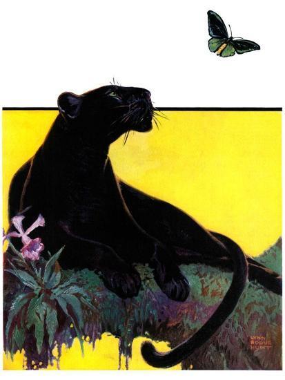 """Black Panther,""August 13, 1932-Lynn Bogue Hunt-Giclee Print"