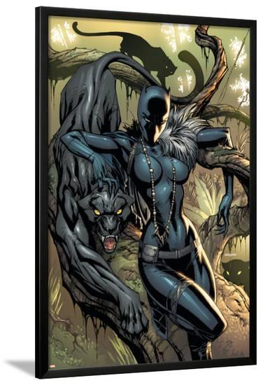 Black Panther No.1 Cover: Black Panther-J. Scott Campbell-Lamina Framed Poster