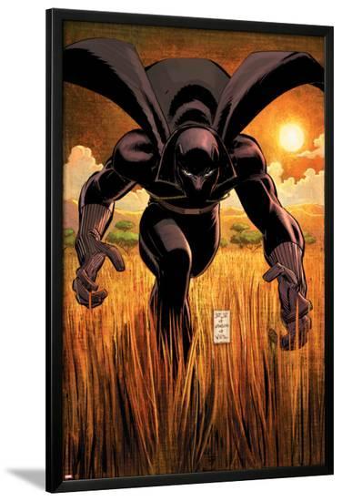 Black Panther No.1 Cover: Black Panther-John Romita Jr^-Lamina Framed Poster