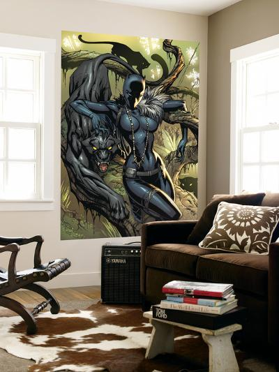 Black Panther No.1 Cover: Black Panther-J. Scott Campbell-Wall Mural
