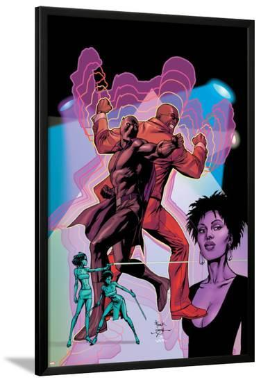Black Panther No.10 Cover: Black Panther, Cage and Luke-Gary Frank-Lamina Framed Poster