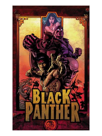 Black Panther No.11 Cover: Black Panther, Cage, Luke and Shang-Chi-Mike Deodato-Art Print