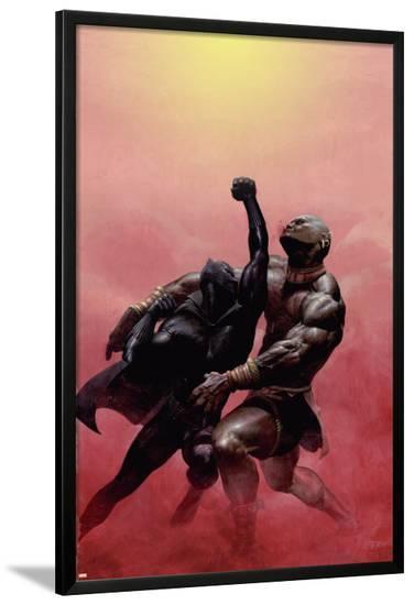 Black Panther No.2 Cover: Black Panther Charging--Lamina Framed Poster