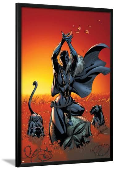 Black Panther No.3 Cover: Black Panther-J. Scott Campbell-Lamina Framed Poster