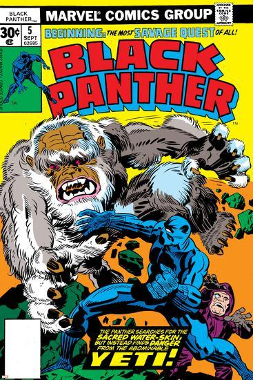Black Panther No.5 Cover: Black Panther-Jack Kirby-Art Print
