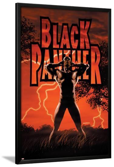Black Panther No.6 Cover: Black Panther-John Romita Jr^-Lamina Framed Poster