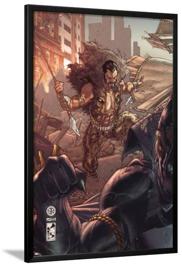 Black Panther: The Man Without Fear No.519 Cover: Kraven The Hunter and Black Panther-Simone Bianchi-Lamina Framed Poster